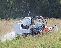 All Seasons Weed Control spraying field for control of Yellow Star Thistle