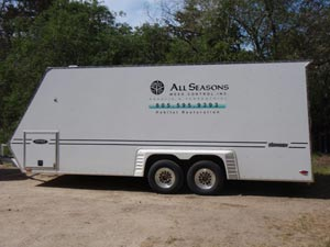 All Seasons Weed Control euqipment trailer