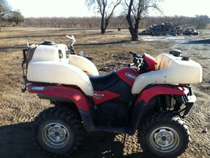 All Seasons Weed Control in Northern CA - custom ATV sprayer